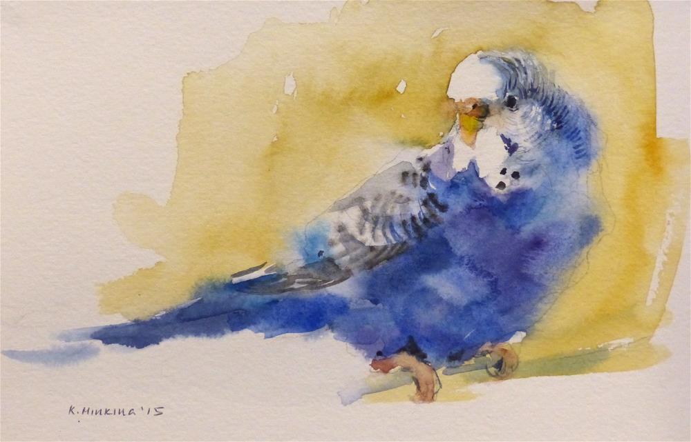"""budgie6"" original fine art by Katya Minkina"