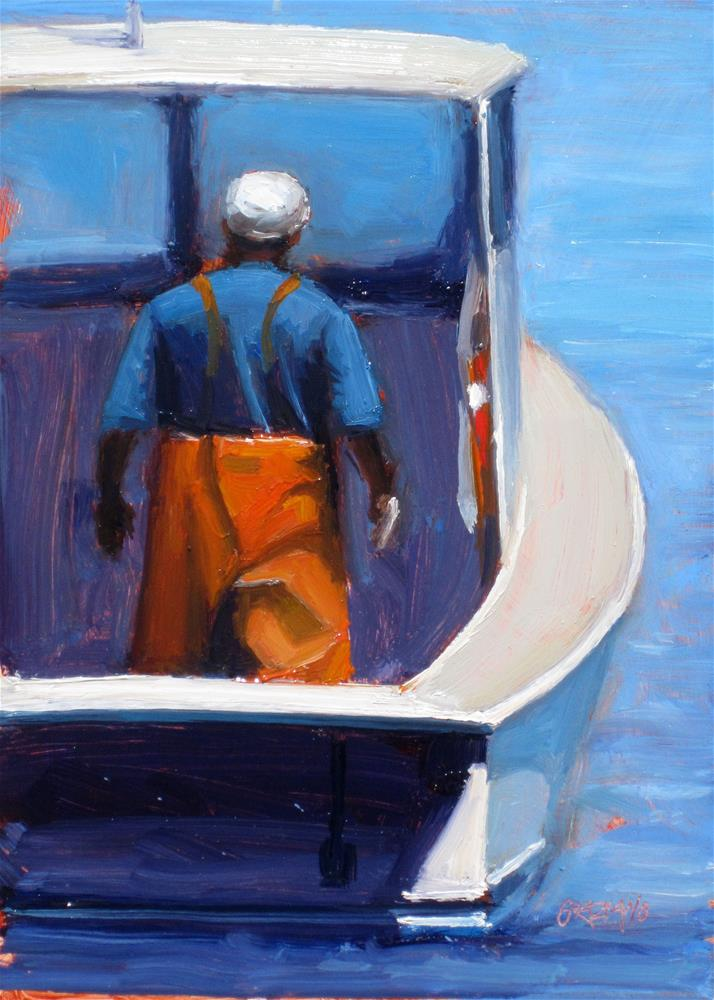 """lobsterman"" original fine art by Dan Graziano"