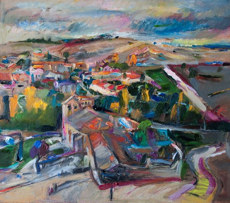 """Spanish Landscape"" original fine art by Anna  Fine Art"