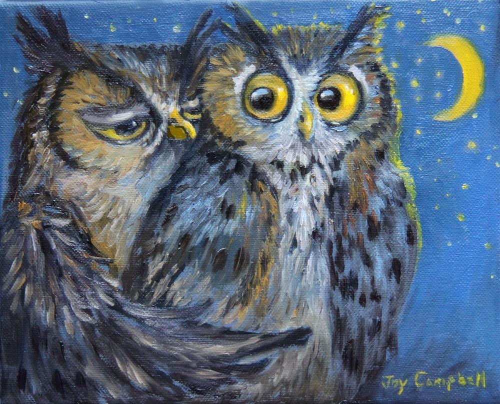 """""""Who's There"""" original fine art by Joy Campbell"""
