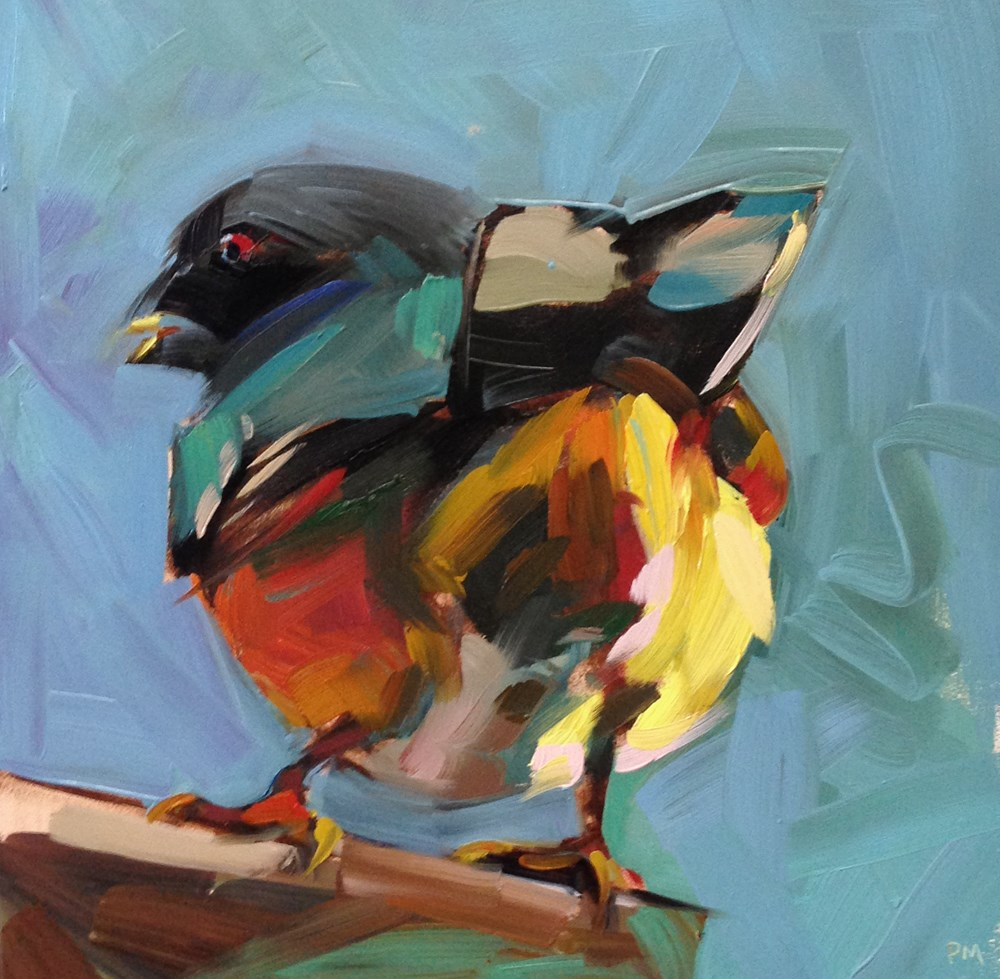 """Toulouse Lautrec Towhee"" original fine art by Patti McNutt"