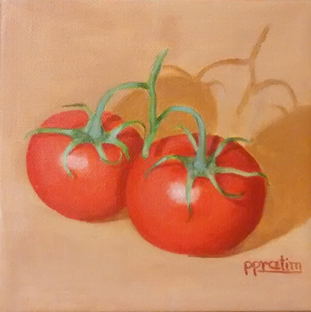 """Tomatos"" original fine art by Pratima Patel"