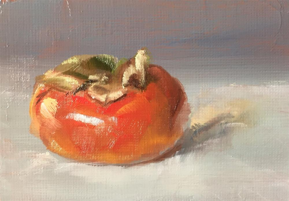 """Persimmon"" original fine art by Gary Bruton"