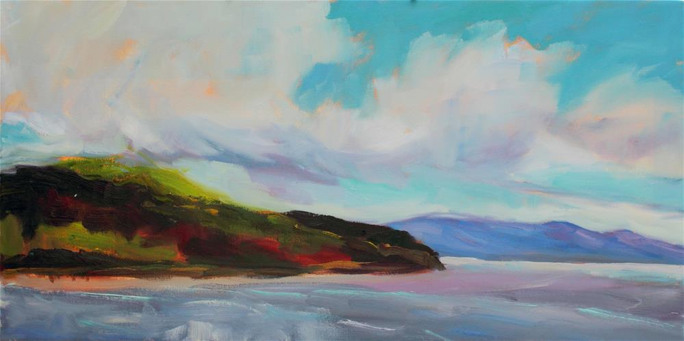 """Clouds Over the Strait"" original fine art by Loralee Chapleau"