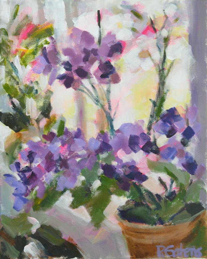 """Orchid Jewels"" original fine art by Pamela Gatens"