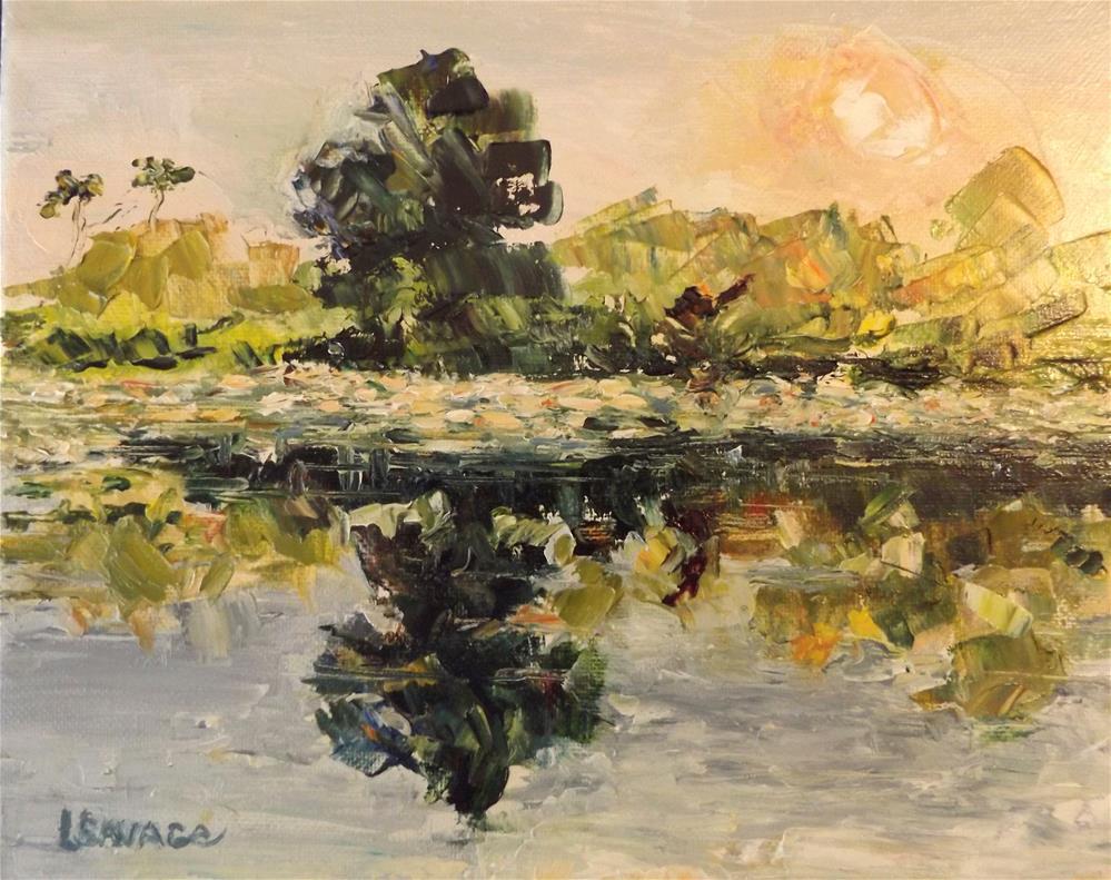 """Sunrise at Franklin Docks"" original fine art by Judy Usavage"