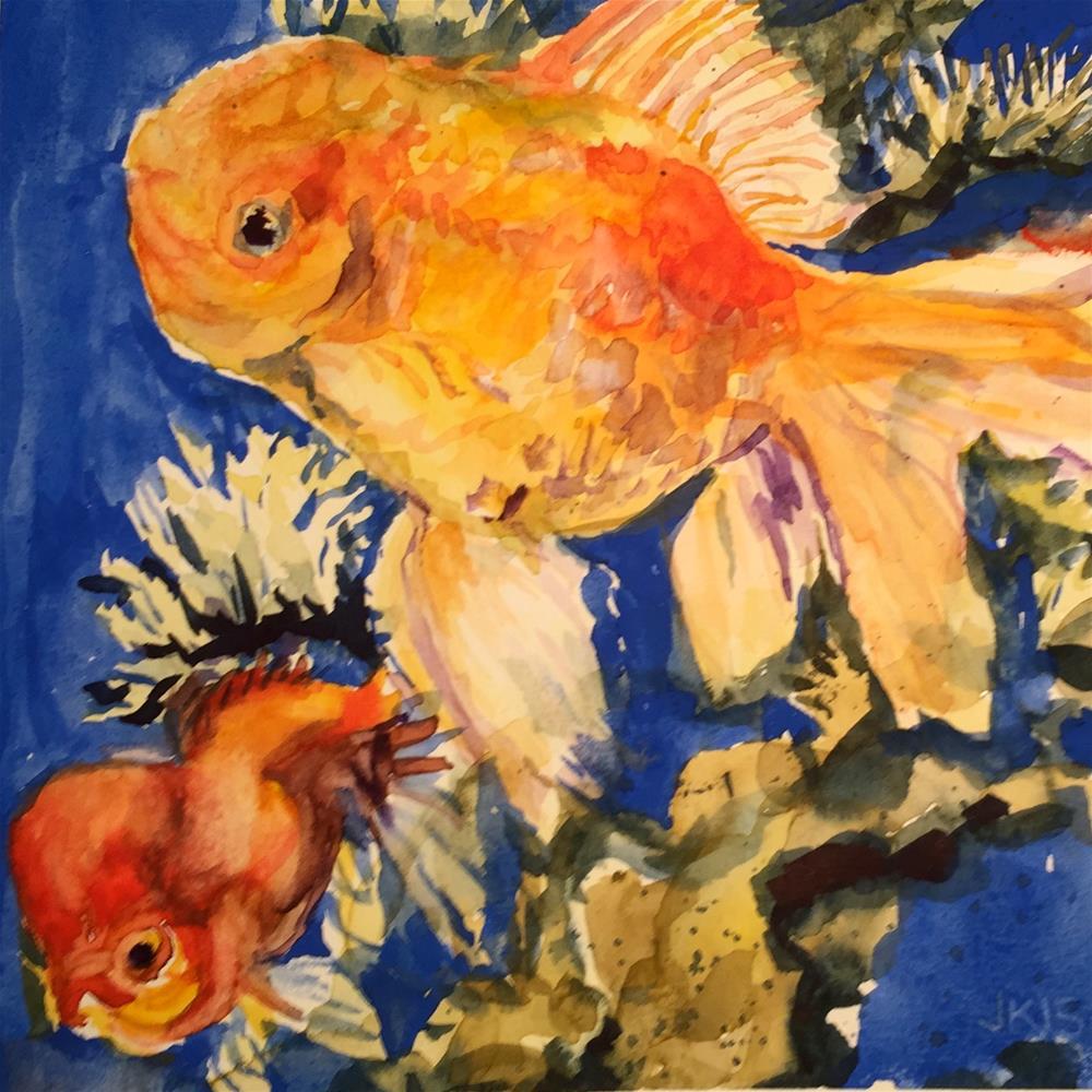 """""""Fancy Goldfish"""" original fine art by Jean Krueger"""