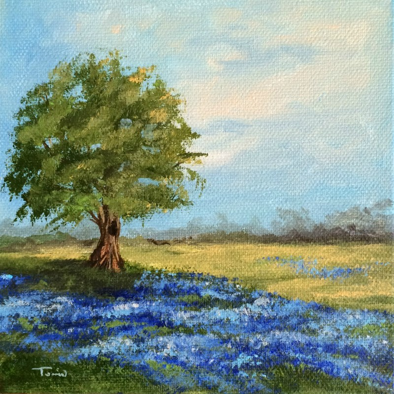 """Spring Bluebonnets"" original fine art by Torrie Smiley"