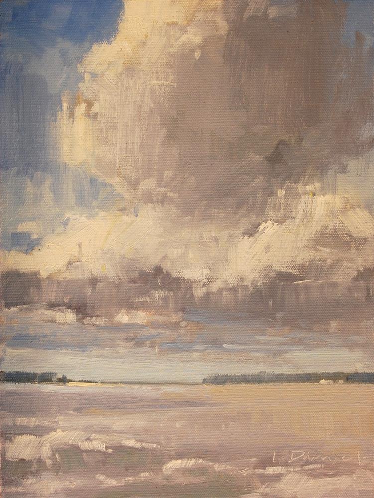 """""""Ocean Sky"""" original fine art by Laurel Daniel"""