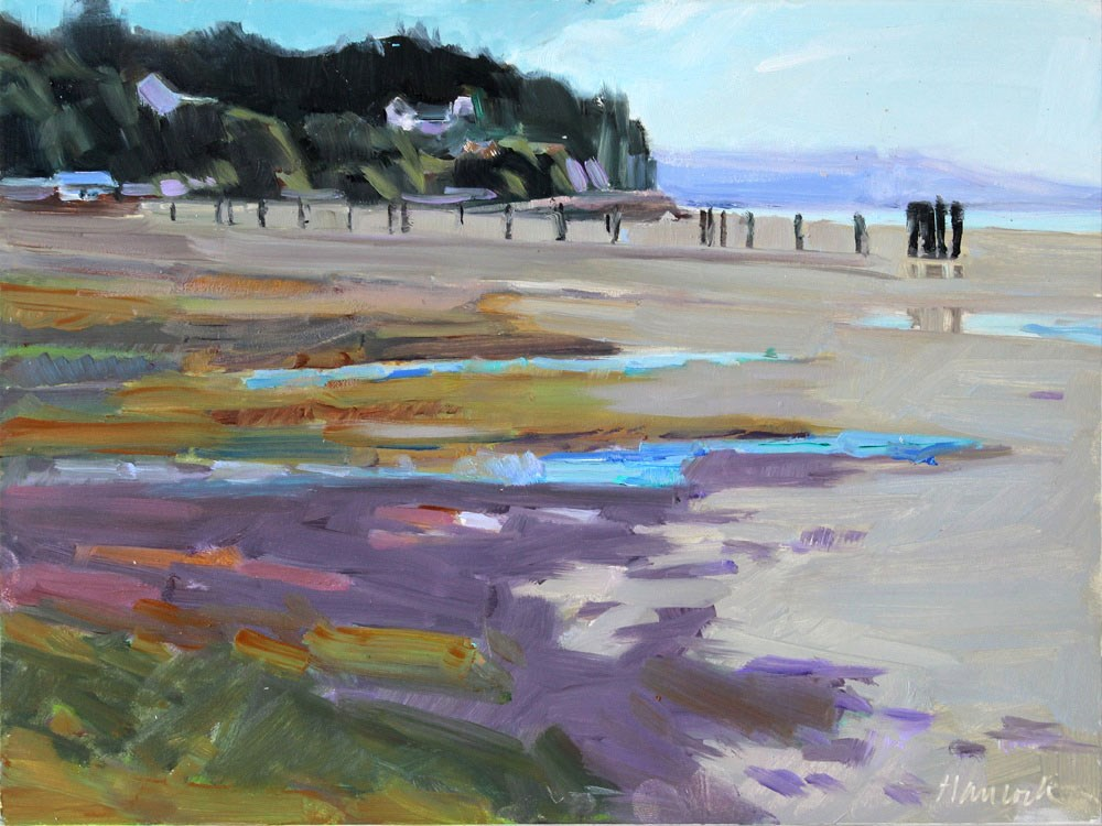 """Elllisport - Low Tide"" original fine art by Gretchen Hancock"