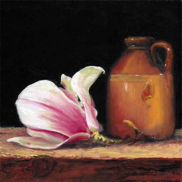 """Magnolia with moonshine jug"" original fine art by Peter J Sandford"