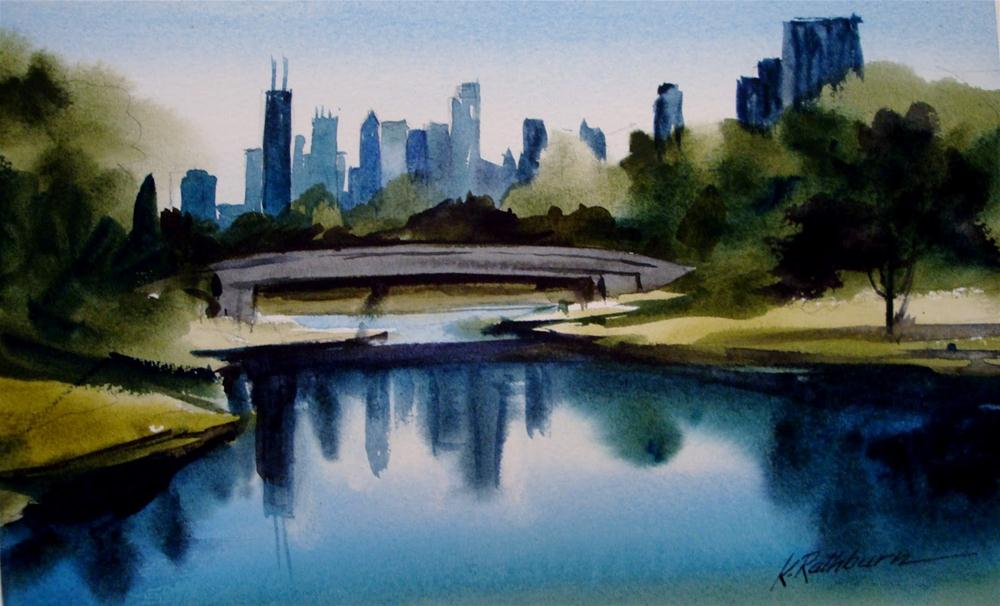 """Chicago series II"" original fine art by Kathy Los-Rathburn"