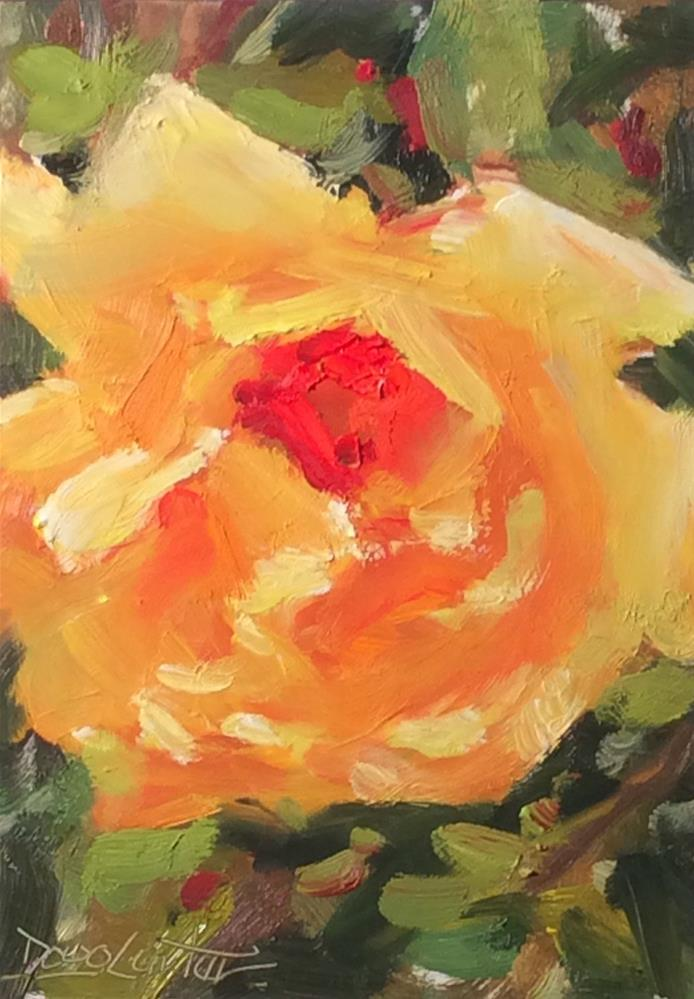 """' GOLDEN ROSE"" original fine art by Doug Carter"