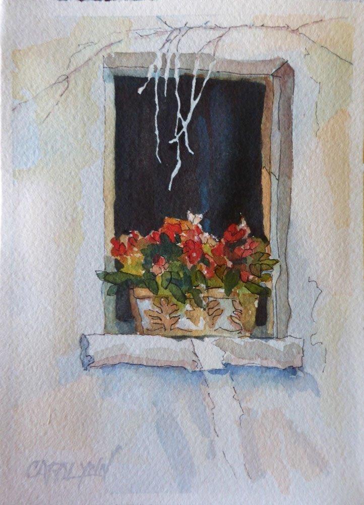 """""""Window of Tourette, France"""" original fine art by Carolynn Doan"""
