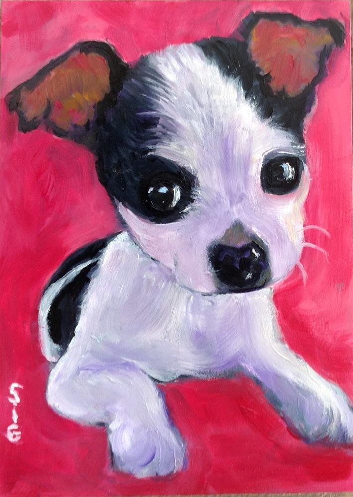 """""""Puppy Love"""" original fine art by Sigrid Victor"""