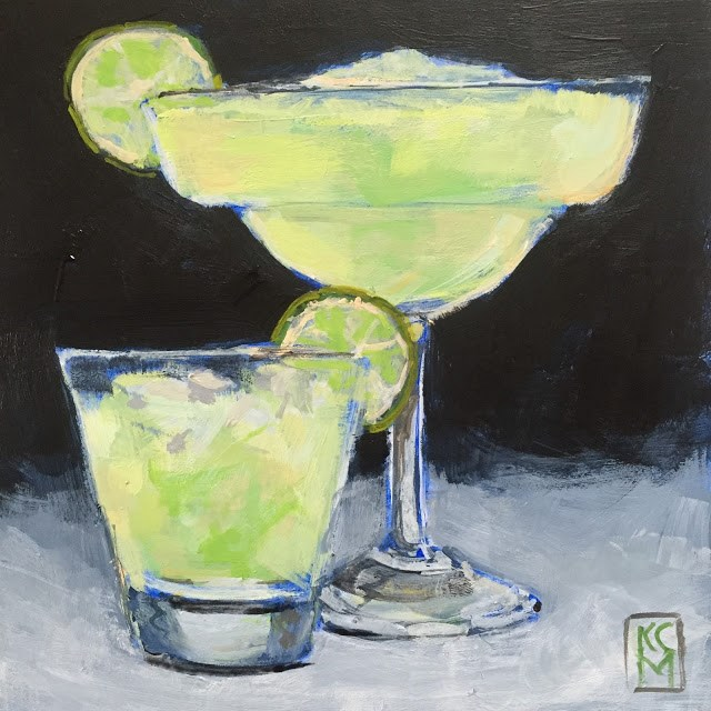 """Cinco De Mayo, 6x6 inch Acrylic Painting by Kelley MacDonald"" original fine art by Kelley MacDonald"