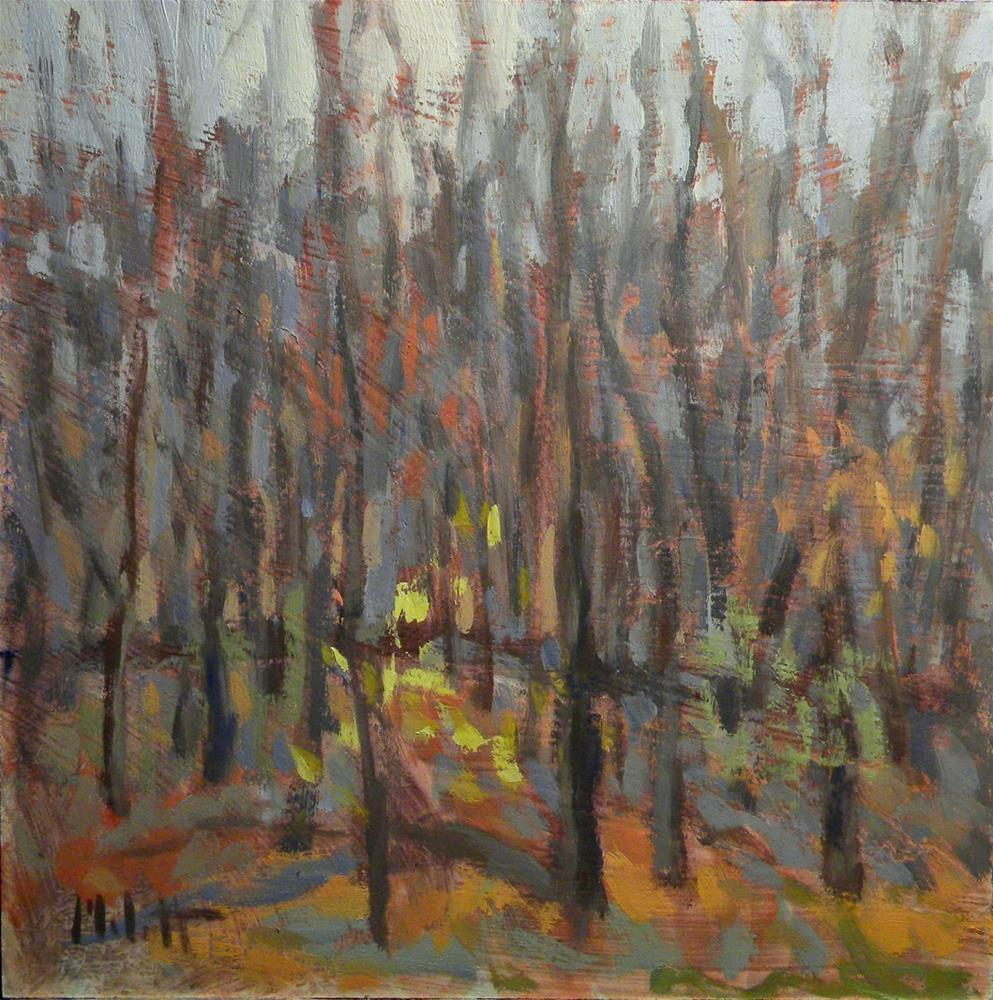 """Late Fall Autumn Woods Landscape Original Art"" original fine art by Heidi Malott"
