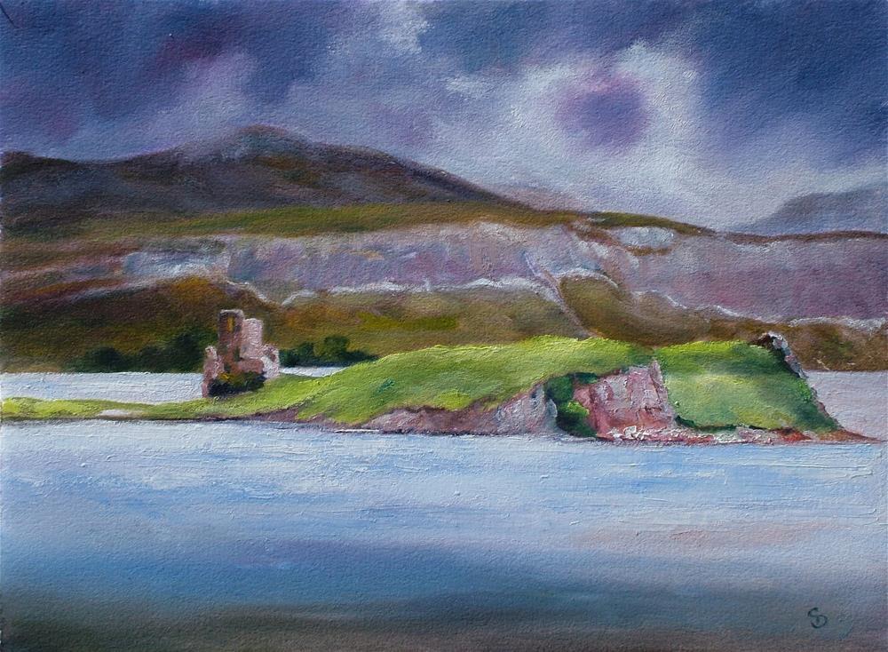 """Loch Assynt, Scotland"" original fine art by Christine Derrick"