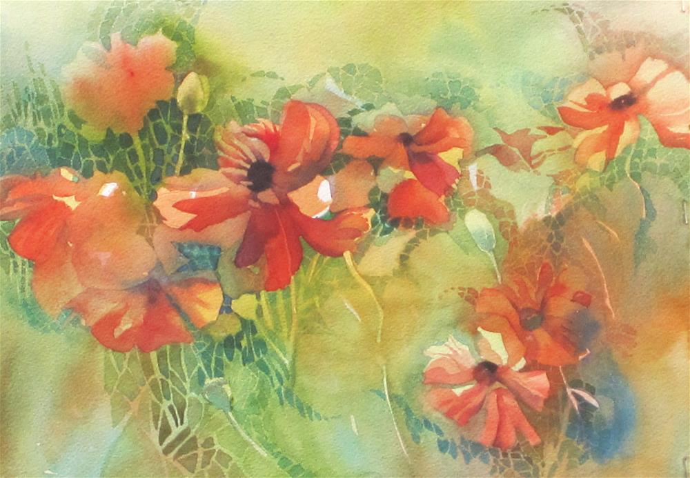 """Ephraim Poppies"" original fine art by Julie Crouch"
