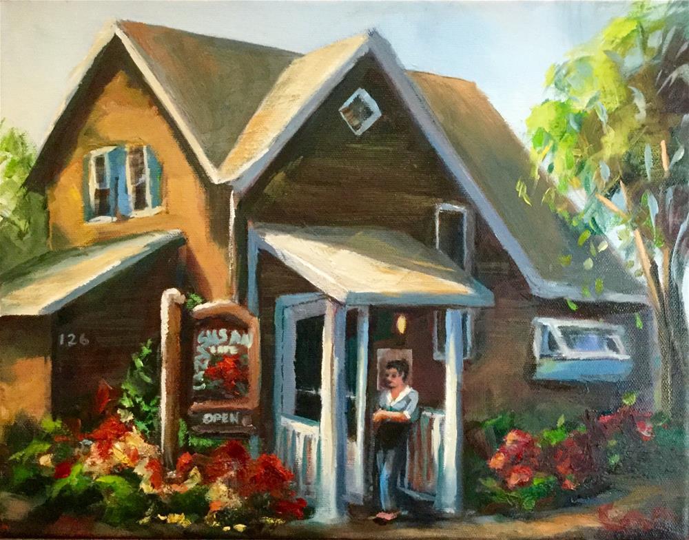 """Your Table is Ready"" original fine art by Sharon Abbott-Furze"