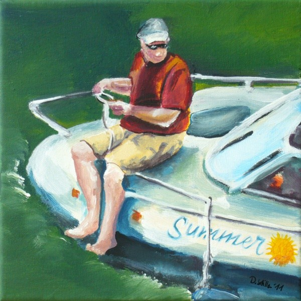"""0006 Summer"" original fine art by Dietmar Stiller"