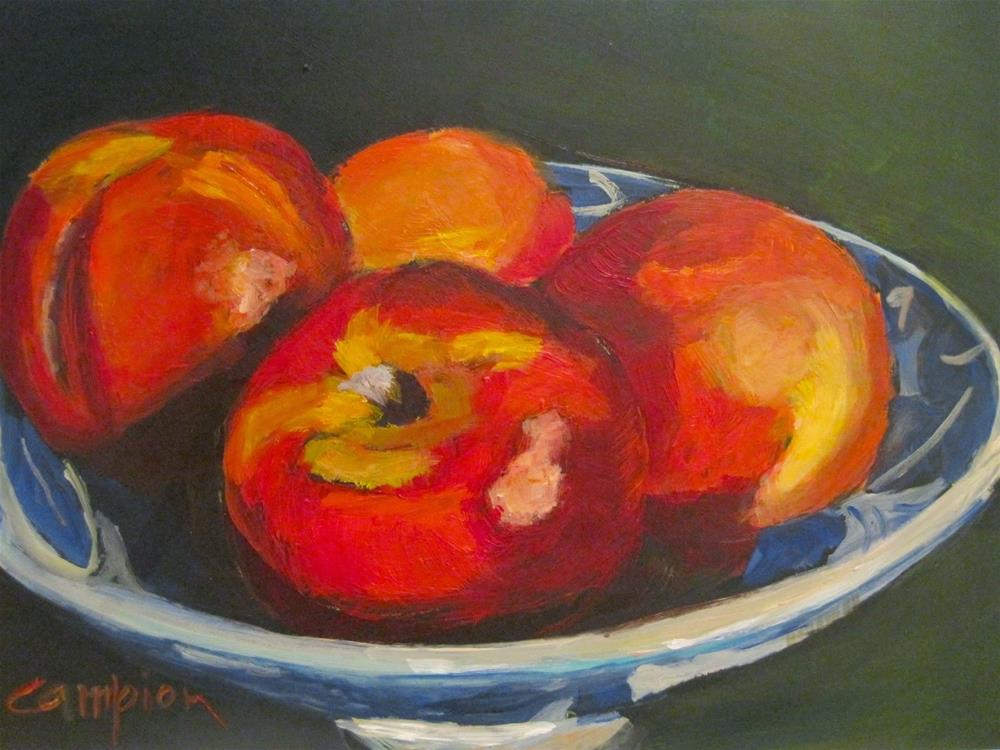 """452 Nectarines, Bird's Eye View"" original fine art by Diane Campion"