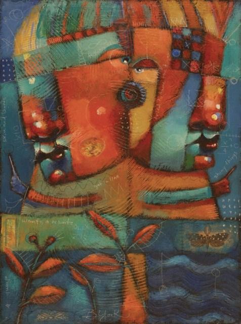 """Tiger Tamers"" original fine art by Brenda York"