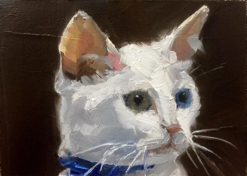 """Blue Collar Kitty"" original fine art by Gary Bruton"
