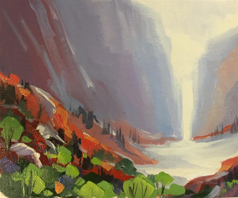 """Kolob Canyons 11"" original fine art by Mary Jabens"