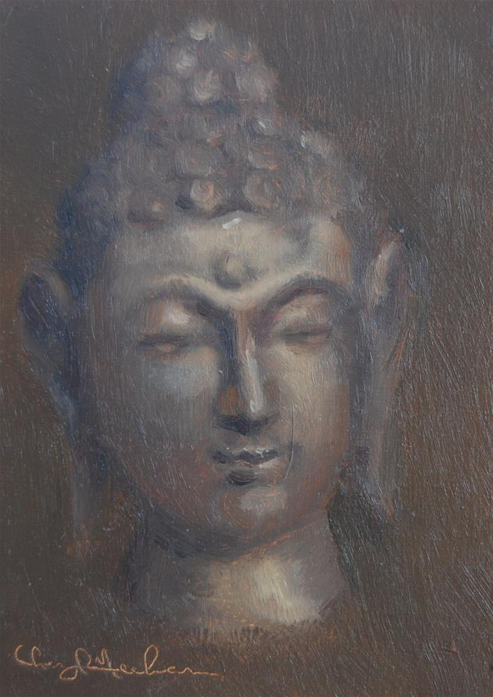"""Buddha head"" original fine art by Cheryl Meehan"