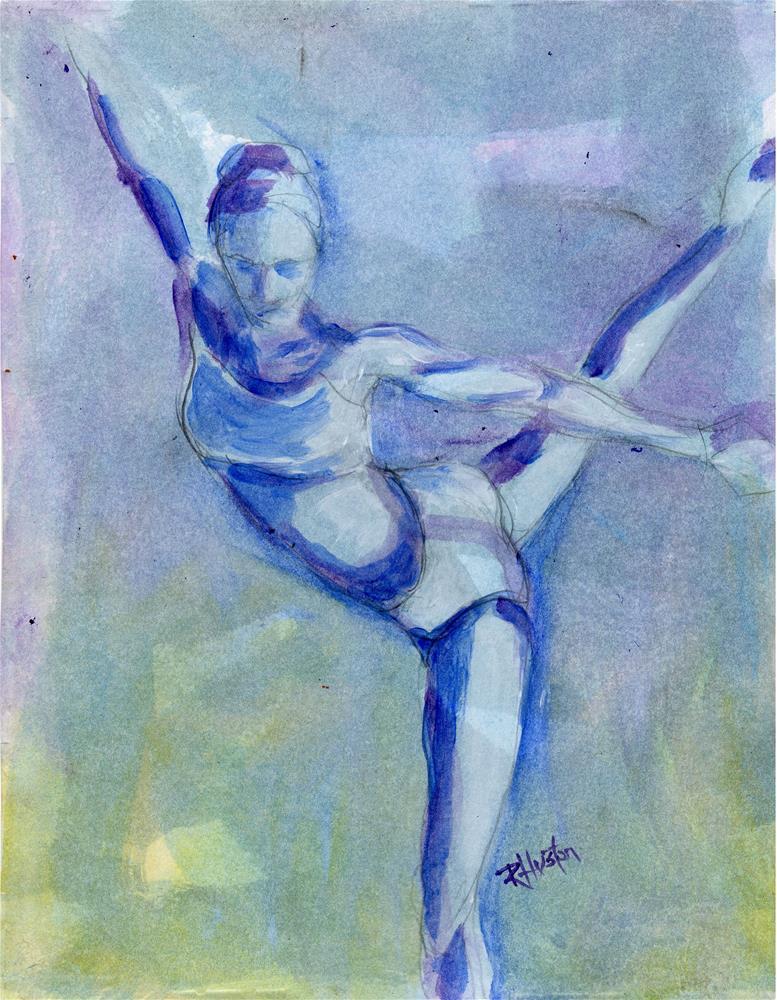 """Dance 17, the hidden language"" original fine art by Richard Huston"