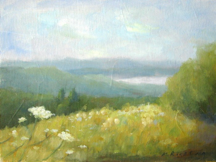 """Tower Hill Vista"" original fine art by Keiko Richter"