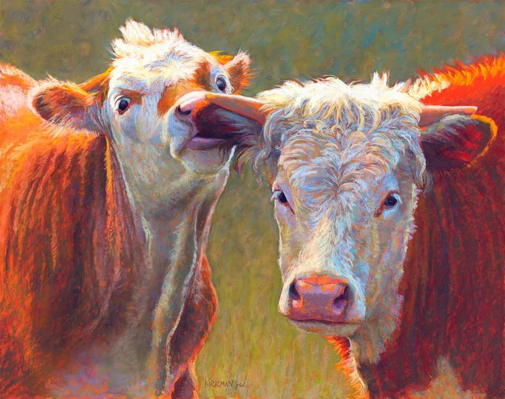 """""""Nibbling Sibling"""" original fine art by Rita Kirkman"""