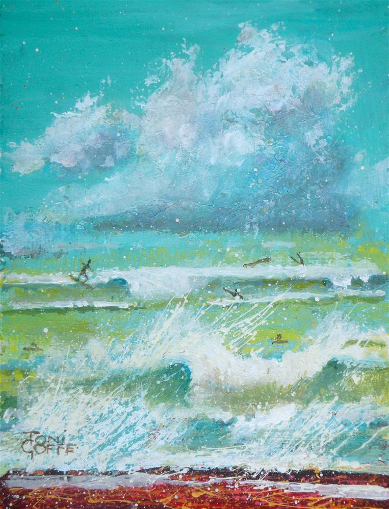 """""""Clouds and The Sea"""" original fine art by Toni Goffe"""