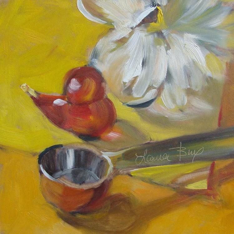 """Studio Friends 3 - 322"" original fine art by Laura  Buxo"