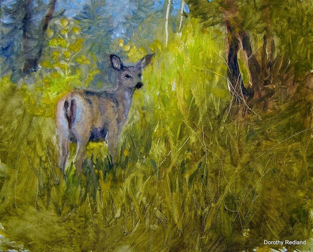 """Oh deer almost hidden"" original fine art by Dorothy Redland"