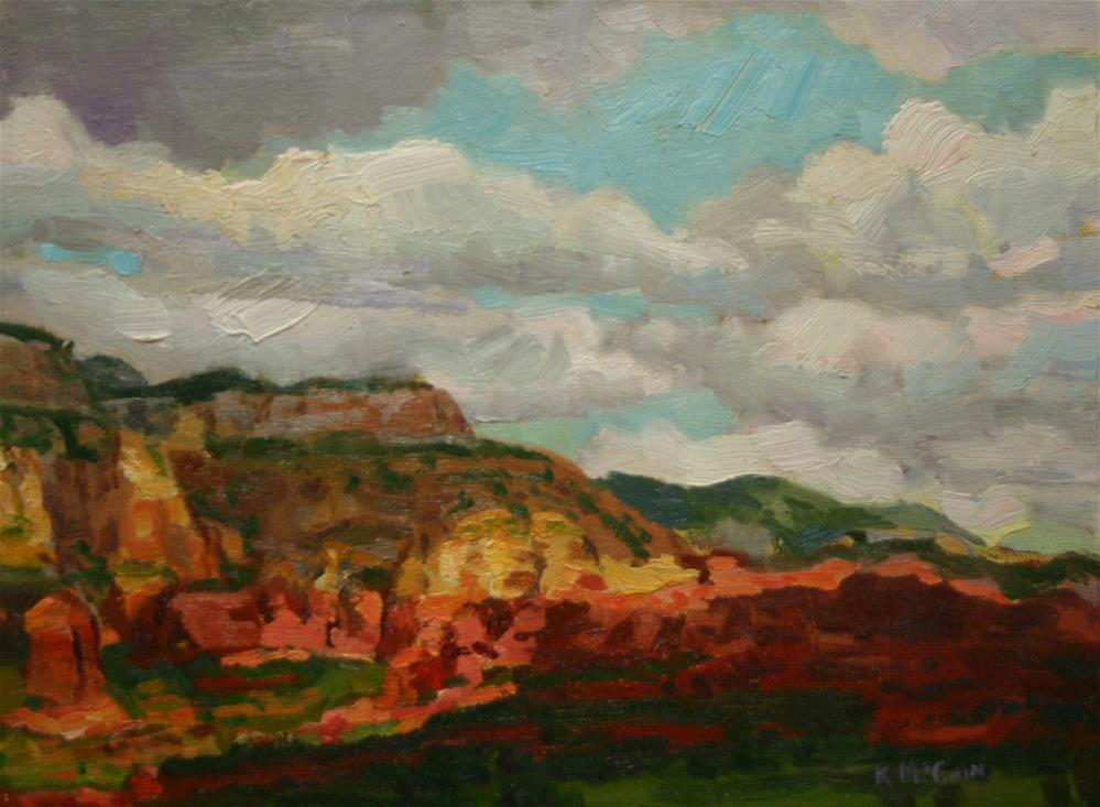 """Stormy Sedona Afternoon"" original fine art by K.R. McCain"