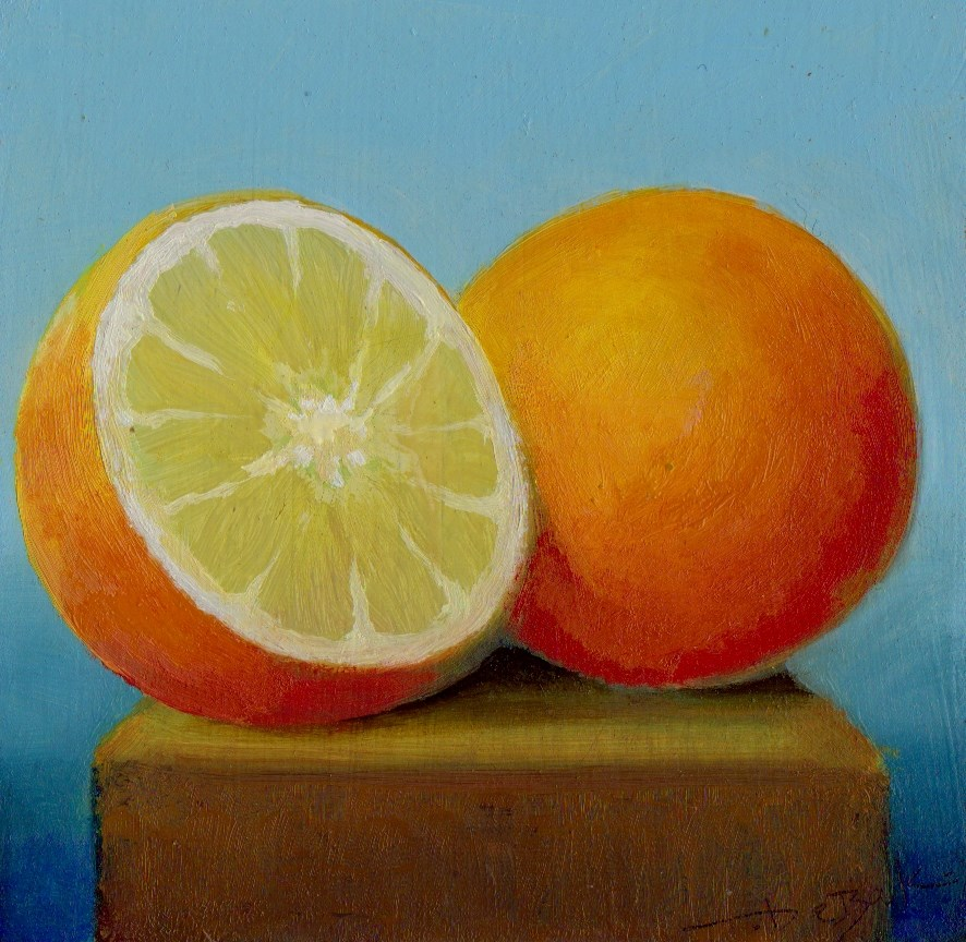 """orange"" original fine art by V. DeBak"