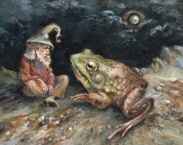 """Dude! I Toad You So"" original fine art by Theresa Taylor Bayer"