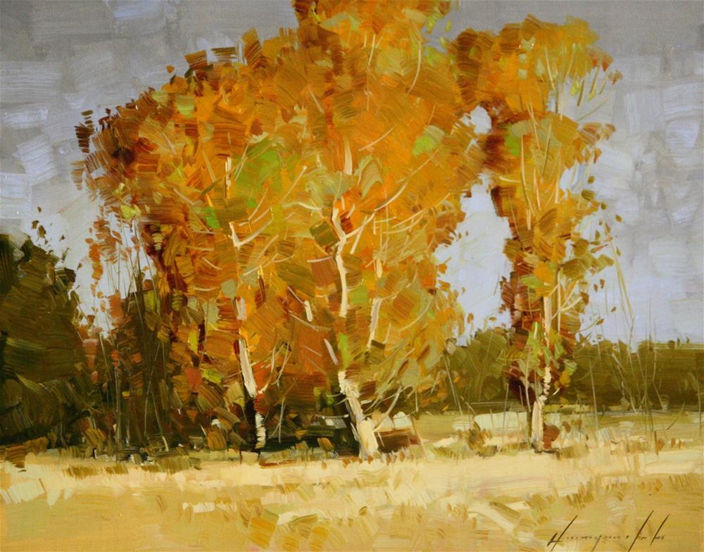 """AUTUMN TREES ORIGINAL OIL PAINTING"" original fine art by V Yeremyan"