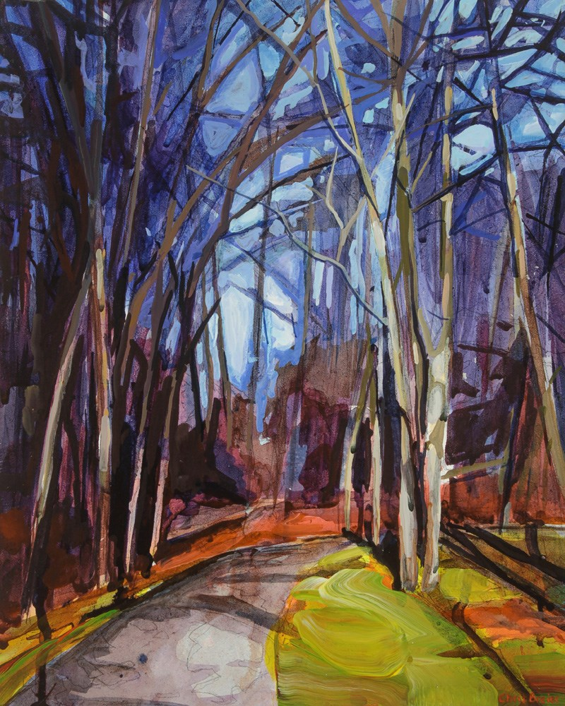 """Woods"" original fine art by Chris  Breier"