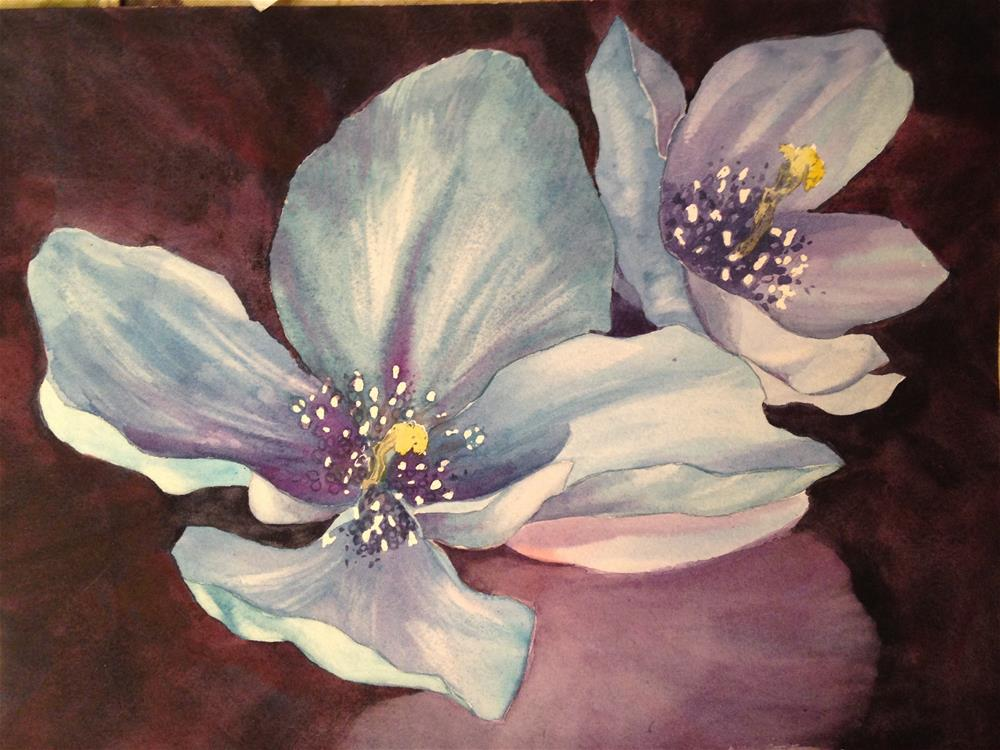 """Himalayan Blue Poppy"" original fine art by Margie Whittington"