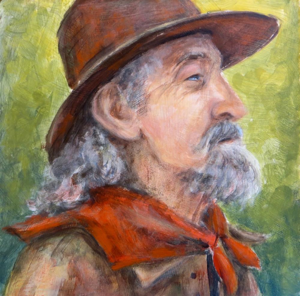 """Red Bandana"" original fine art by Tammie Dickerson"