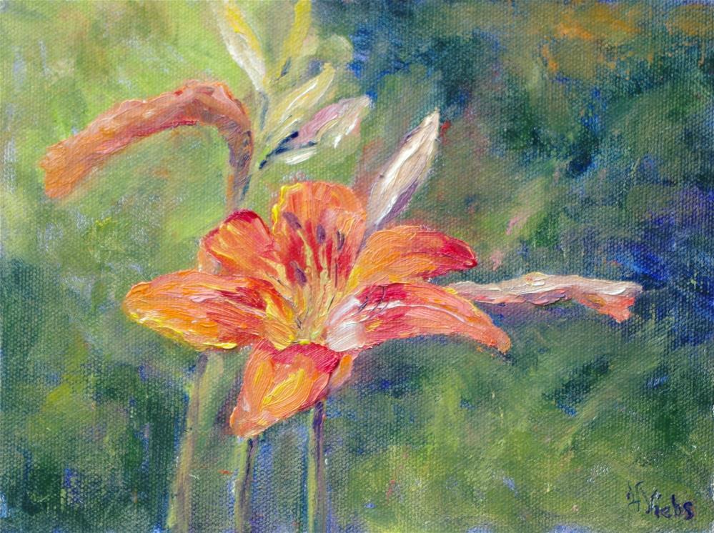 """Day Lillies are here!"" original fine art by Helen Viebrock Hamel"
