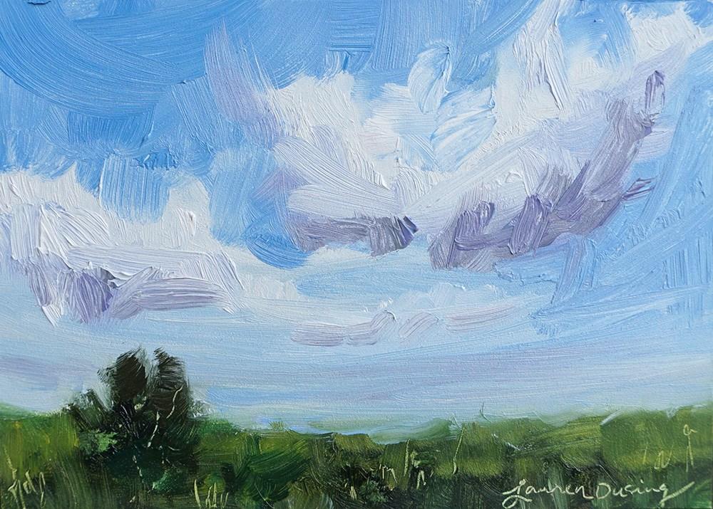 """Spring Clouds"" original fine art by Lauren Dusing"