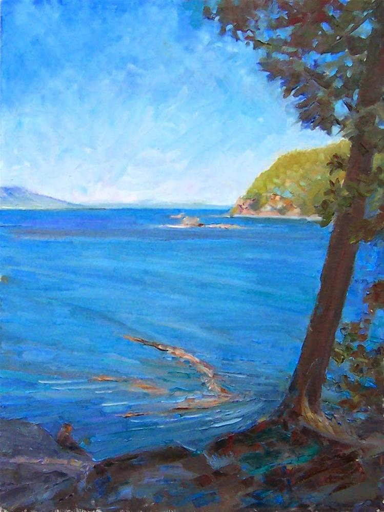 """Trail at Larrabee,sea scape,oil on canvas,24x18,price$1,200"" original fine art by Joy Olney"