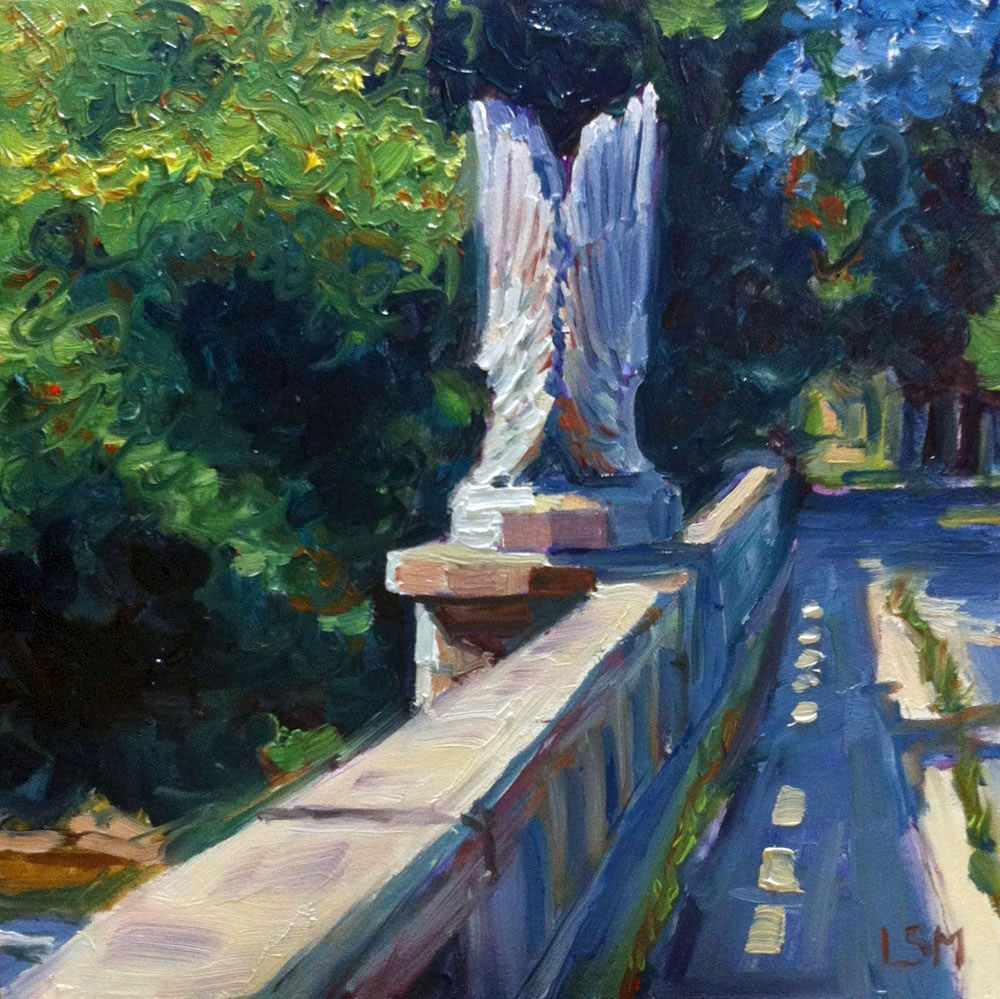 """Angel Wings Bridge"" original fine art by Linda Marino"