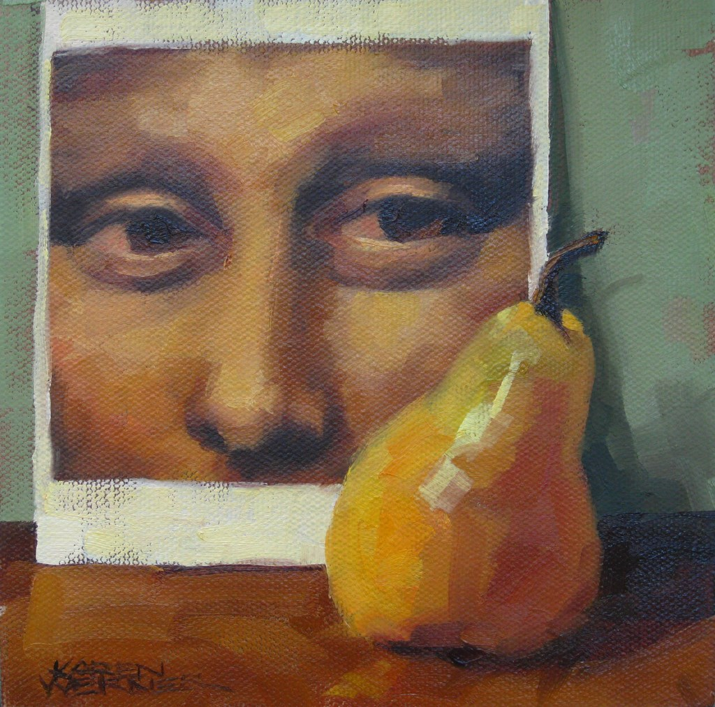 """Mona's Pear"" original fine art by Karen Werner"