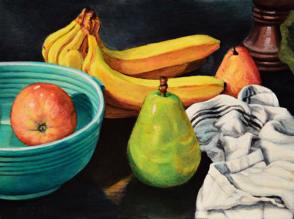 """Fruit Assortment"" original fine art by Kenneth Cobb"