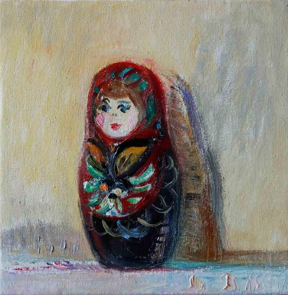 """Matryoshka Doll"" original fine art by Anna  Fine Art"